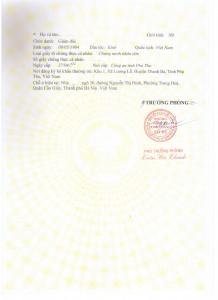 Mẫu giấy chứng nhận đăng ký kinh doanh mới nhất 2015